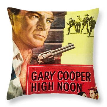 High Noon - 1952 Throw Pillow by Georgia Fowler