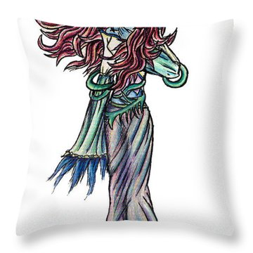 Throw Pillow featuring the painting High Ogre Elessidia by Shawn Dall