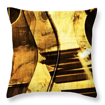 High On Music Throw Pillow by Randi Grace Nilsberg