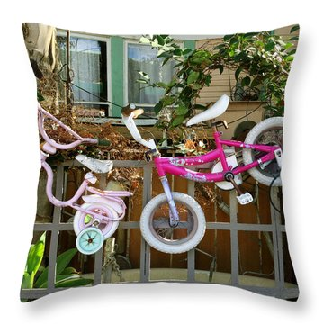Throw Pillow featuring the painting High Riders by Dan Redmon