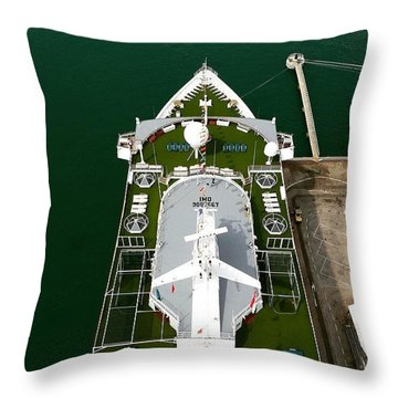 #high #sea #view #ship #onboard Throw Pillow