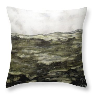 High Sea Waves Throw Pillow