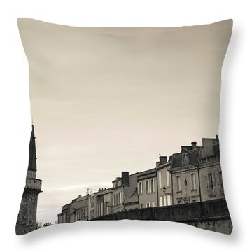 High Section View Of A Tower, Tour De Throw Pillow