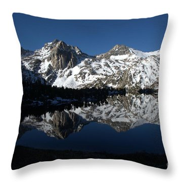 High Sierra Mountain Reflections 1 Throw Pillow by Jane Axman