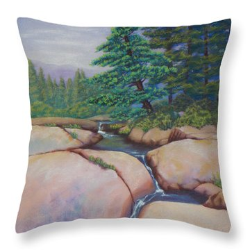 High Sierras Throw Pillow