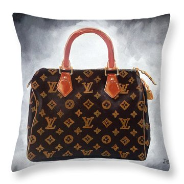 High Society Throw Pillow by Rebecca Jenkins