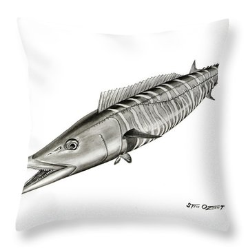 High Speed Wahoo Throw Pillow