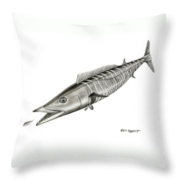 High Speed Wahoo Throw Pillow
