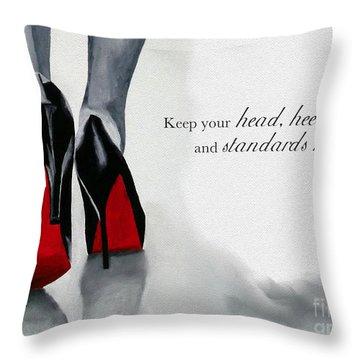 High Standards Throw Pillow by Rebecca Jenkins
