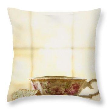 High Tea Throw Pillow