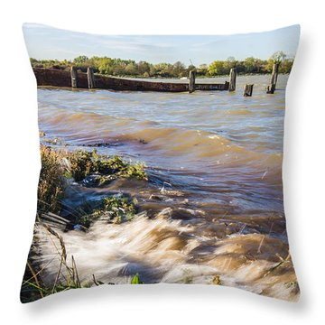 High Tide Throw Pillow by Dawn OConnor