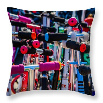 High Time To Buy A Scooter 1 Vertical Throw Pillow by Alexander Senin