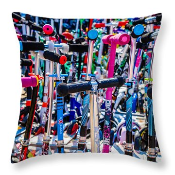 High Time To Buy A Scooter 3 Horizontal Throw Pillow by Alexander Senin
