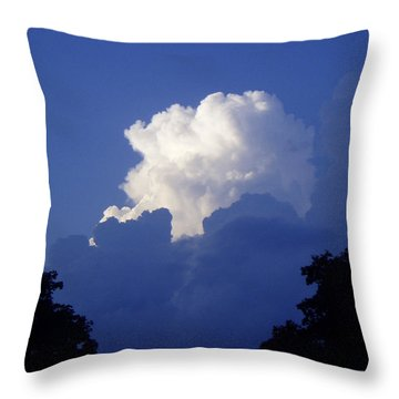 High Towering Clouds Throw Pillow