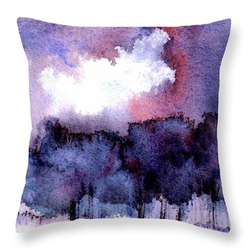 Throw Pillow featuring the painting High Valley Weather by Anne Duke