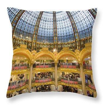 High View Of The Domed Central Area Of Throw Pillow by Ian Cumming
