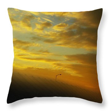 High Winds At Sunset Throw Pillow