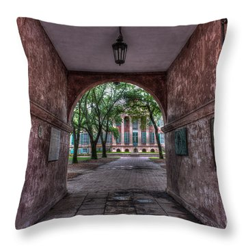 Higher Education Tunnel Throw Pillow
