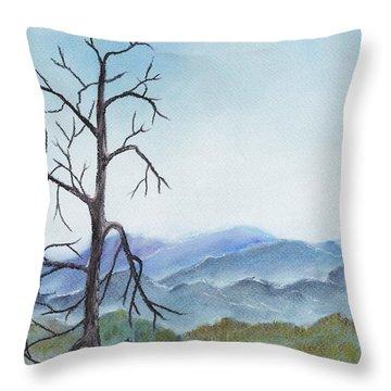 Highland Throw Pillow by Anastasiya Malakhova