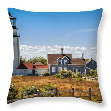 Highland Light Throw Pillow by Brian Caldwell