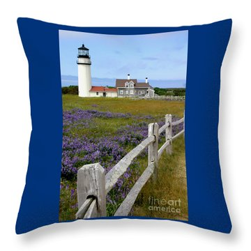 Highland Lighthouse Throw Pillow