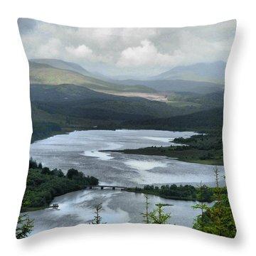 Highland Loch At Lochaber Throw Pillow