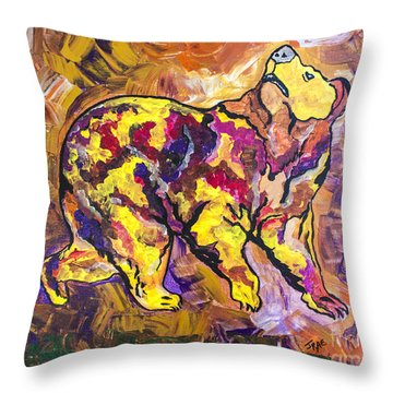 Throw Pillow featuring the painting Highland's North Carolina Bear by Janice Rae Pariza