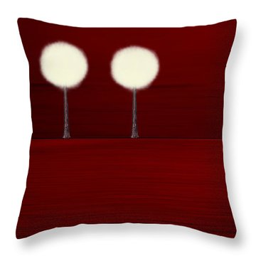 Highlighted Trees 02 Throw Pillow by Aimelle