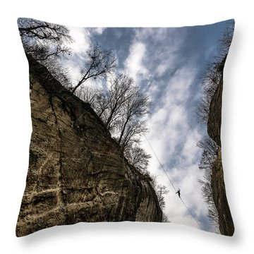 Highlining In Southern Bavaria Throw Pillow