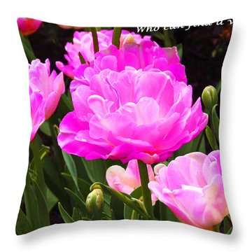 Highly Favored Throw Pillow