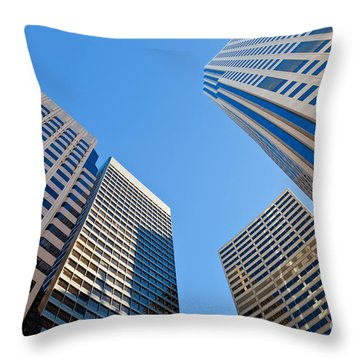 Throw Pillow featuring the photograph Highrises by Jonathan Nguyen