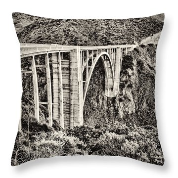 Highway 1 Throw Pillow by Heather Applegate