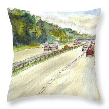 Highway 95 Throw Pillow