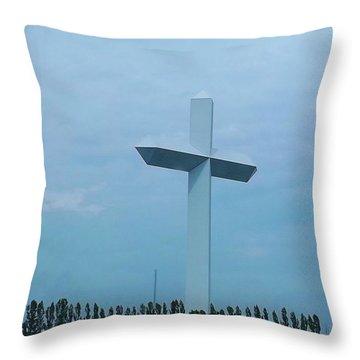 Highway Cross Throw Pillow by Brigitte Emme