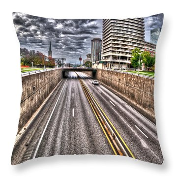 Throw Pillow featuring the photograph Highway Into St. Louis by Deborah Klubertanz