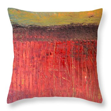 Highway Series - Cranberry Bog Throw Pillow