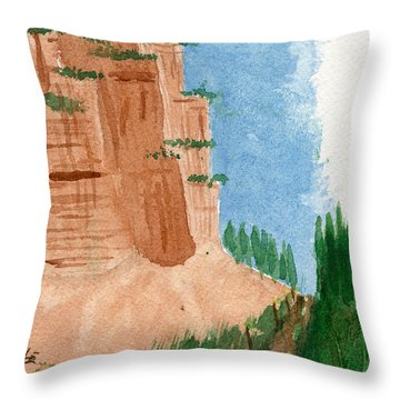 Highway Smile Throw Pillow