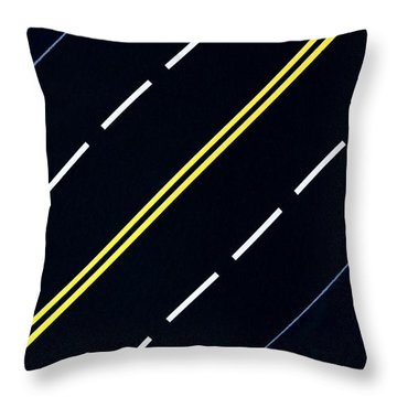 Throw Pillow featuring the painting Highway by Thomas Gronowski
