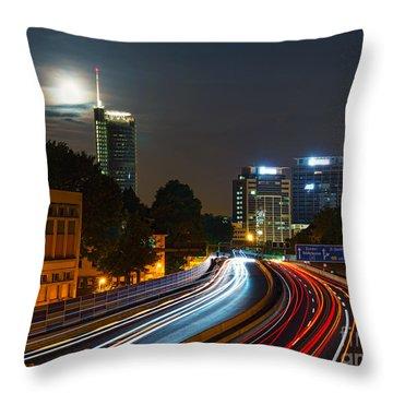 Highway To Essen Throw Pillow