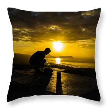 Hiker @ Diamondhead Throw Pillow
