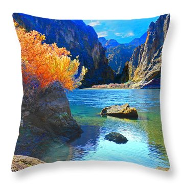 Hikers Haven Two Throw Pillow by Alan Socolik