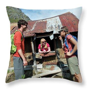 Hiking Alaska Talkeetna Mountains Throw Pillow