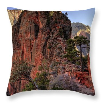 Hiking Angels Throw Pillow