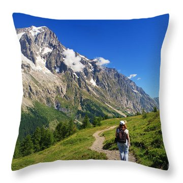 hiking in Ferret Valley Throw Pillow by Antonio Scarpi