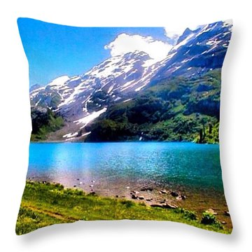 Hiking Switzerland Throw Pillow