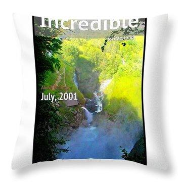Hiking Switzerland, 2001 Fond Memories Throw Pillow