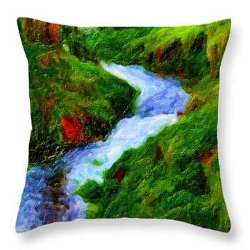 Hill And Rill Throw Pillow