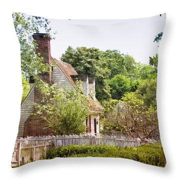 Hill Cottage Throw Pillow by Shari Nees