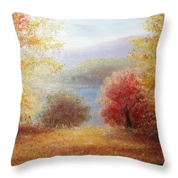 Hill Country Autumn Throw Pillow