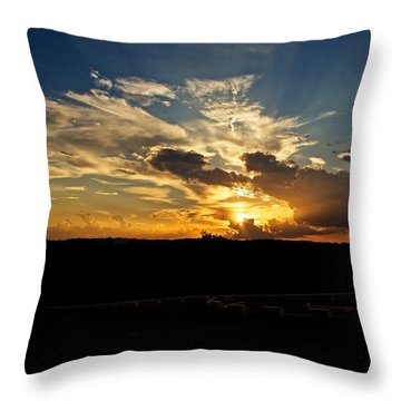 Hill Country Sunset Throw Pillow by Dave Files
